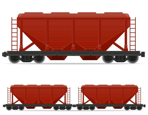 järnvägsvagn tåg vektor illustration