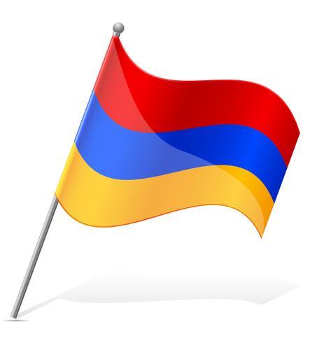bandiera dell'armenia illustrazione vettoriale