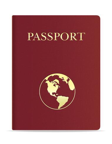 ilustración vectorial pasaporte