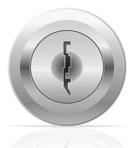 silver metal keyhole vector illustration