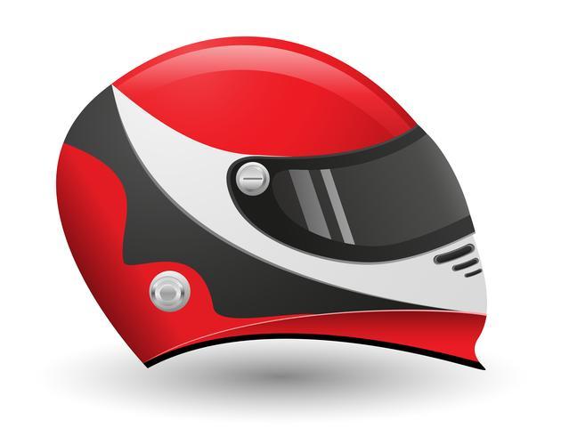 Helm für eine Racer-Vektor-Illustration