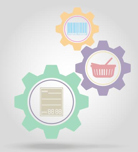 merchandise gear mechanism concept vector illustration
