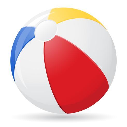 illustrazione vettoriale pallone da spiaggia