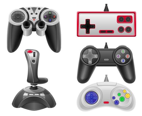 définir des icônes manettes de jeu pour les consoles de jeu vector illustration EPS 10