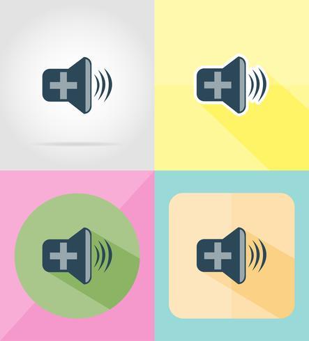 ljud platt ikoner vektor illustration
