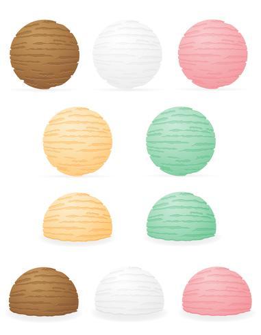 Ilustración de vector de bolas de helado