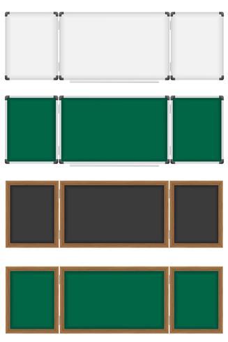 trä och plast skolbords vektor illustration