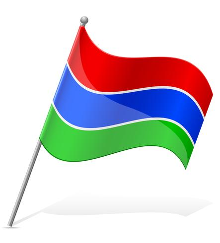 flag of Gambia vector illustration