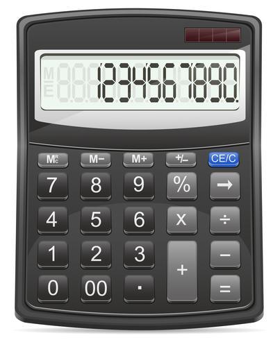 rekenmachine vectorillustratie