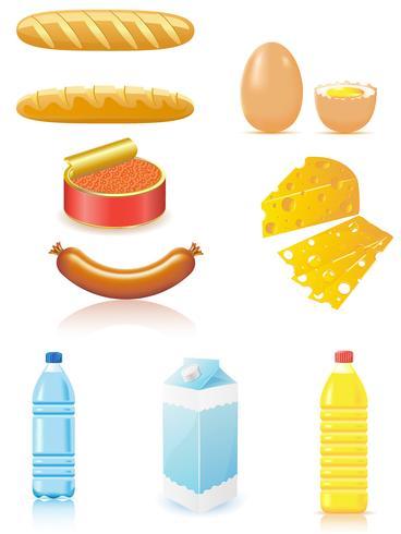 stel pictogrammen van voedsel in