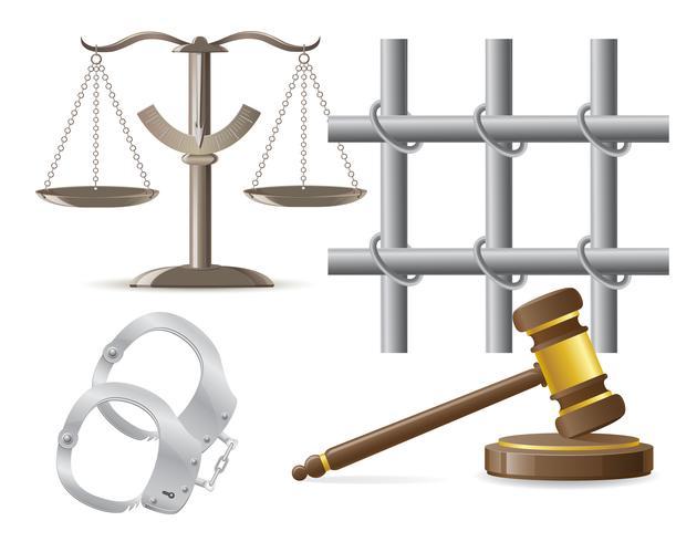 iconos de la ley vector illustration