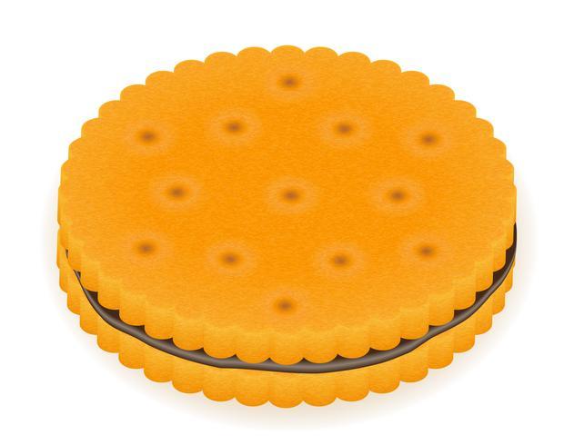 illustrazione vettoriale biscotto croccante biscotto