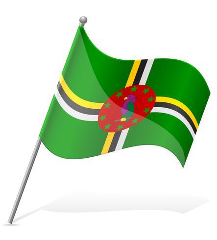 vlag van Dominica vectorillustratie
