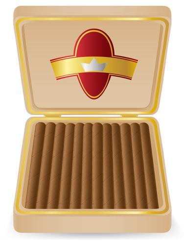 cigarrer i en låda vektor illustration