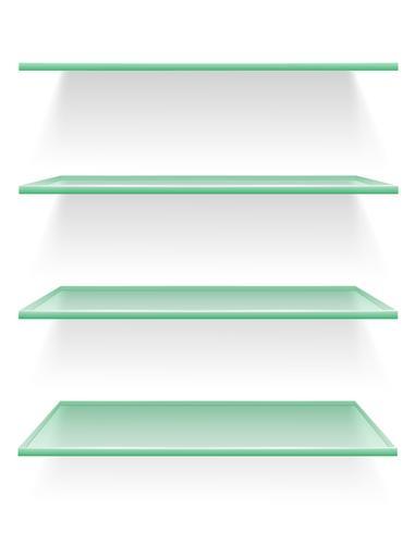 Boekenplank Van Glas.Transparante Glazen Plank Vectorillustratie Download Free