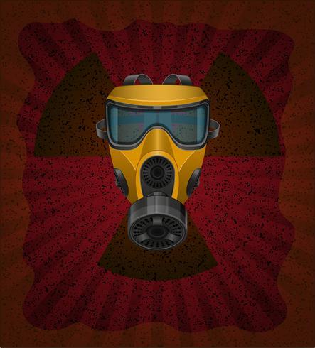 concepto de ilustración de vector de contaminación radiactiva