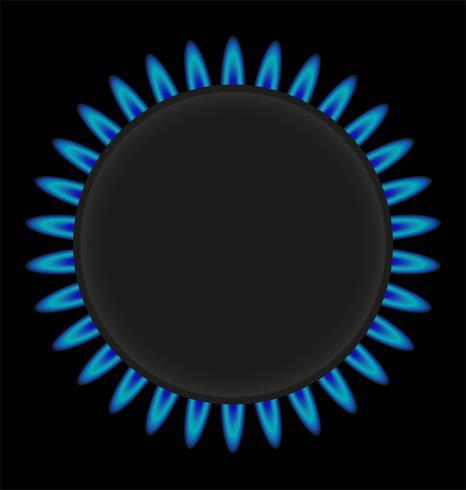 brandende gas ring kachel vectorillustratie vector