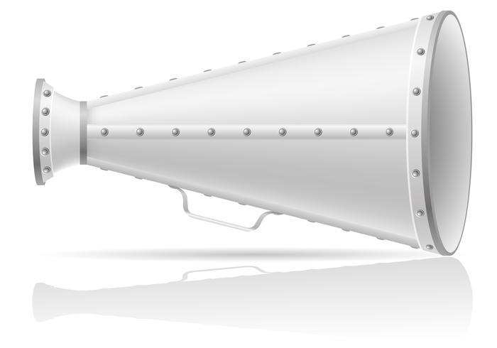 vieja ilustración vectorial de megáfono