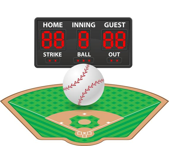 baseball sport digital resultattavla vektor illustration