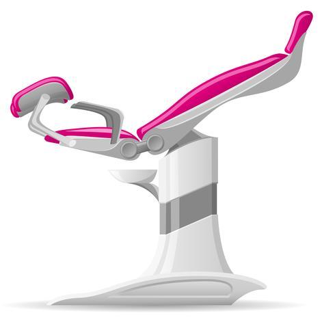 medische gynaecologische stoel vectorillustratie