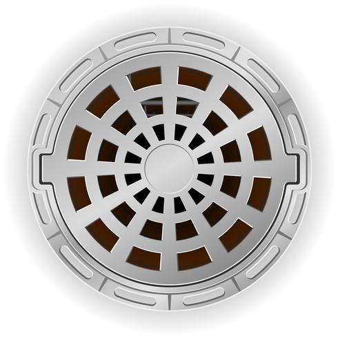Pozo de alcantarillado cerrado con una ilustración de vector de escotilla