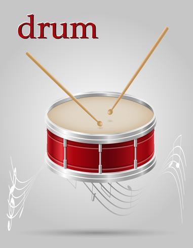 batería instrumentos musicales stock vector ilustración
