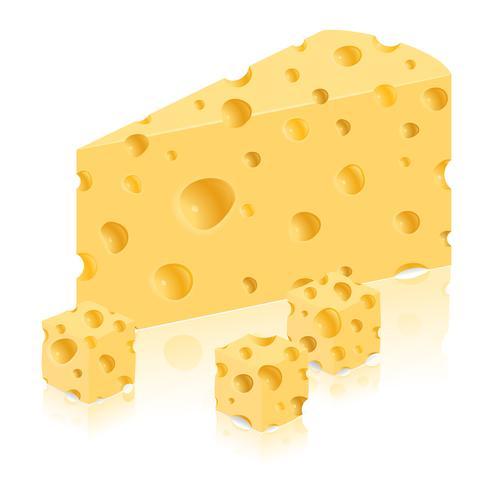 pedazo de ilustración vectorial de queso