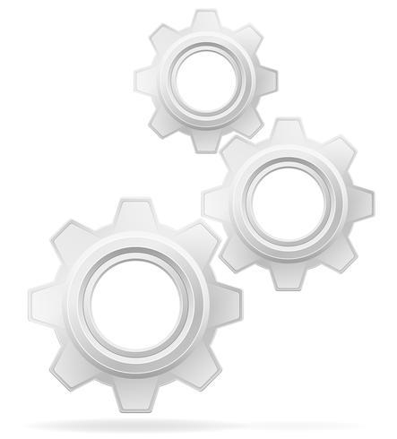 icono de ilustración vectorial de engranajes