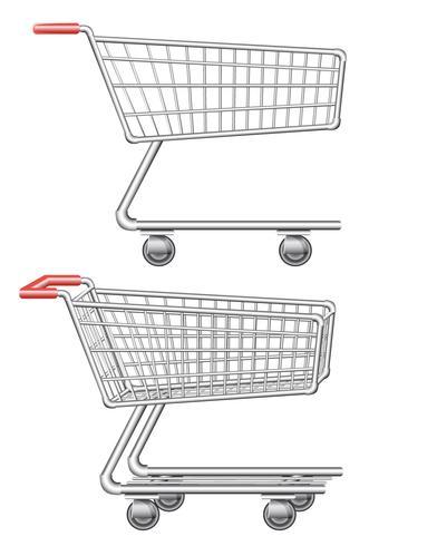 illustrazione vettoriale di carrello dello shopping