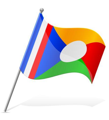 vlag van Reunion vectorillustratie