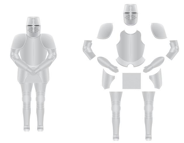 riddare rustning demonterad vektor illustration