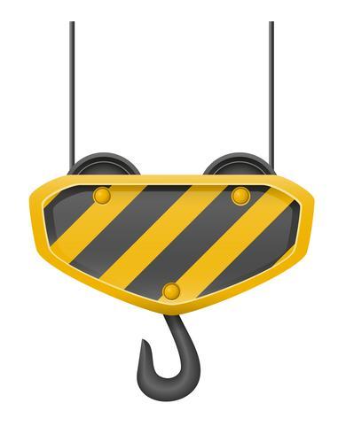hook crane for building vector illustration