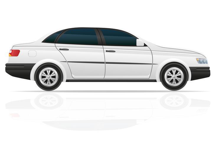 Ilustración de vector de coche sedán