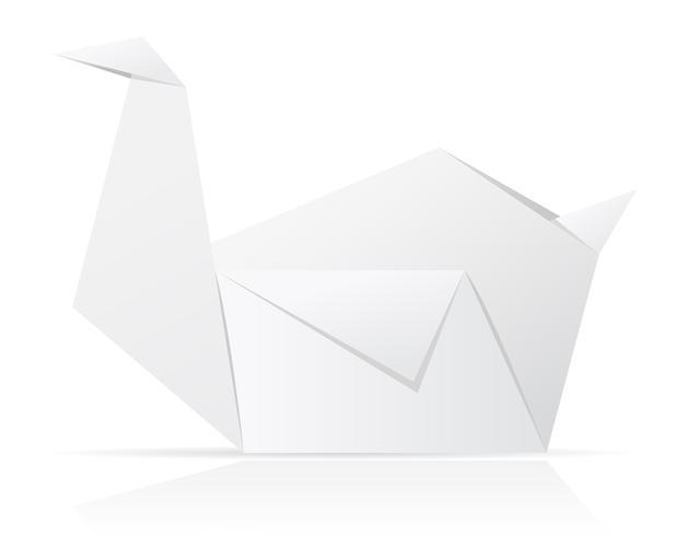 illustration vectorielle de papier cygne origami