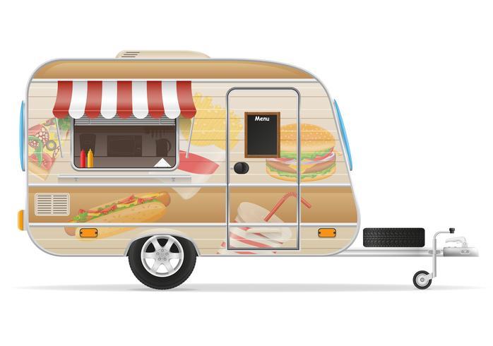 fast food trailer vector illustration