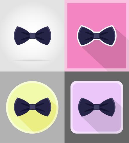 noeud papillon bleu pour les hommes un costume plat icônes illustration vectorielle