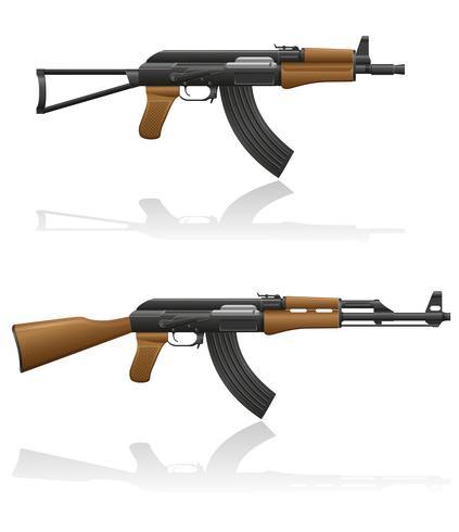 Máquina automática AK-47 Kalashnikov ilustración vectorial