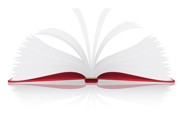 open boek vectorillustratie