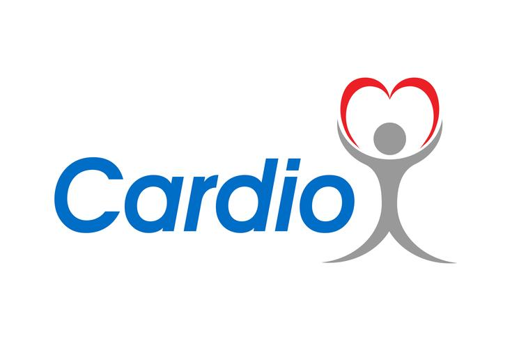 Logotipo para una ilustración de vector de clínica de cardio
