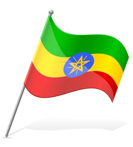 bandera de etiopia vector illustration