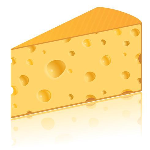 morceau d'illustration vectorielle de fromage