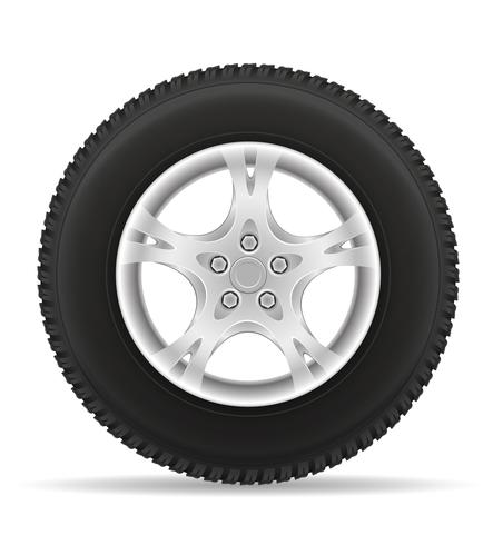 car wheel tire from the disk vector illustration