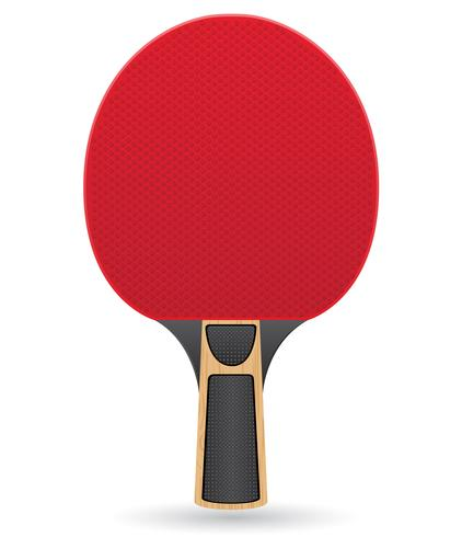 raquette à titre d'illustration vectorielle de tennis de table ping pong