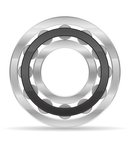 Rodamiento de rodillos de metal ilustración vectorial