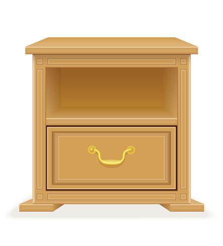 illustration vectorielle de meubles de table de chevet