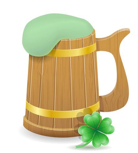 saint patrick's day beer mug stock vector illustration