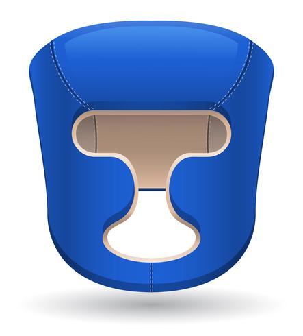 illustration vectorielle de boxe casque