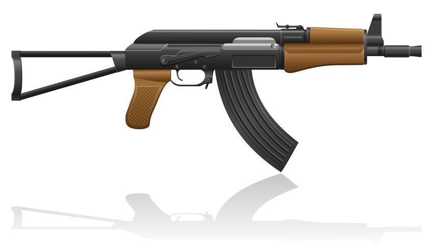 máquina automática AK-47 Kalashnikov ilustração vetorial