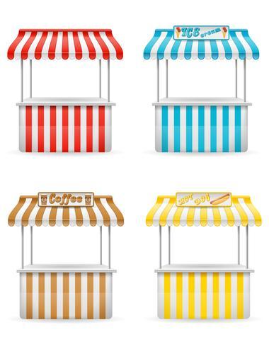 illustration vectorielle de stalle de nourriture de rue