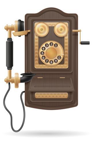 teléfono antiguo icono retro stock vector ilustración